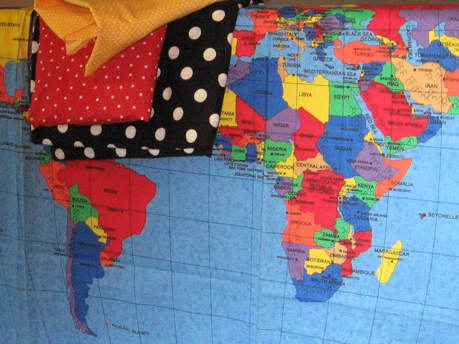 World Map Quilt 1 | \'m unique blog