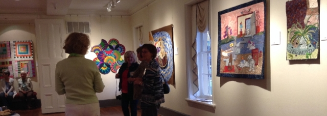 """ARTIST RECEPTION for ARTQUILTSwhimsy was well attended and the quilts were well received!"