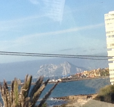 Gibralter - looks like an island to me!