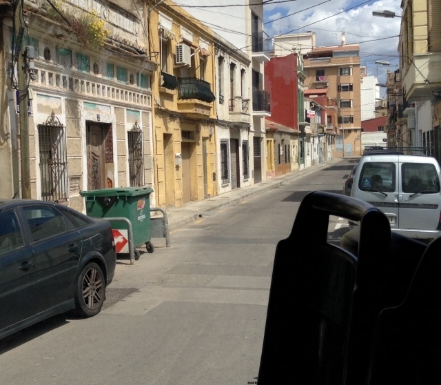 A view of one of the streets in the port neighborhood.