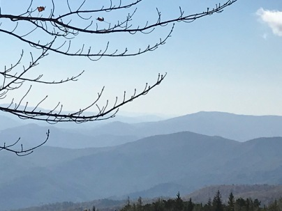 Smoky Mts. from Blue Ridge Parkway