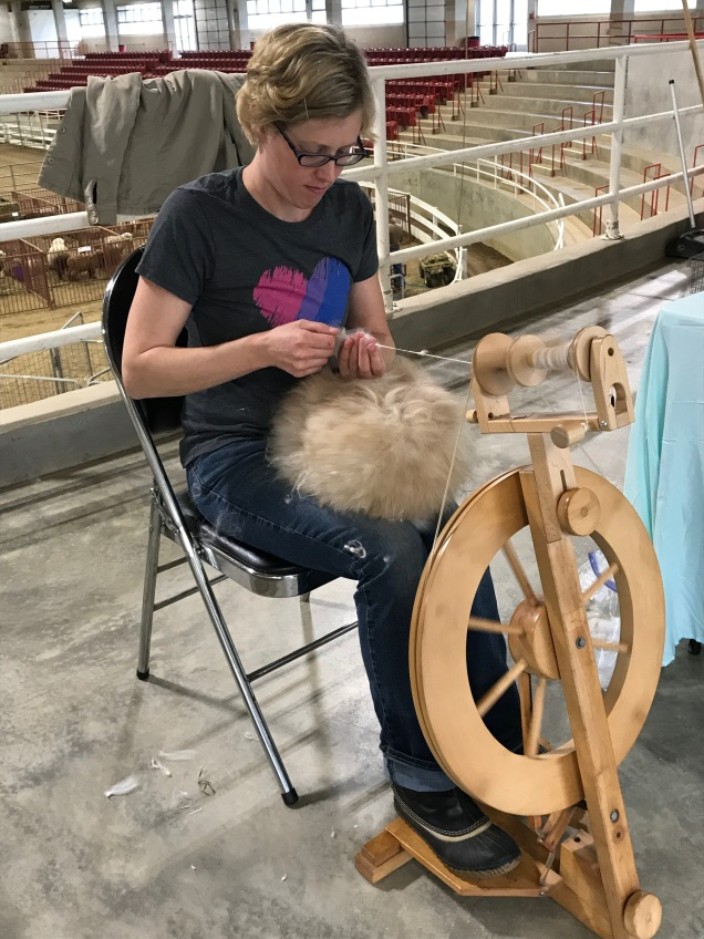 Spinning from the Angora rabbit